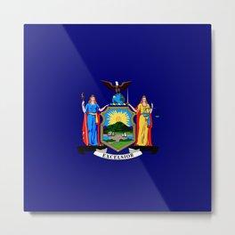 New York State Flag Metal Print