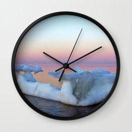 Viking Iceship on the Sea Wall Clock