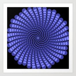 more blue spirals Art Print