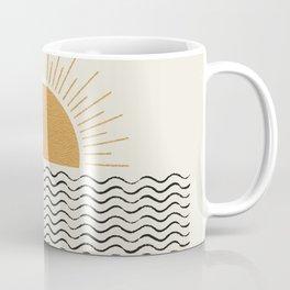 Sunrise Ocean -  Mid Century Modern Style Coffee Mug