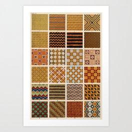 Egyptian Patterns, Vintage Design Art Print
