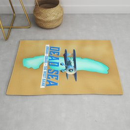 Dead Sea Travel Poster Rug