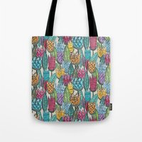 tulips Tote Bags featuring tulips by Sharon Turner