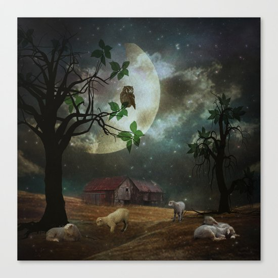 By the Moon Light Canvas Print