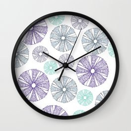 Sea Urchin With White Background Wall Clock