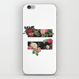 floral equality symbol iPhone Skin