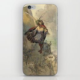"""""""King of the Fairies"""" by A Duncan Carse iPhone Skin"""