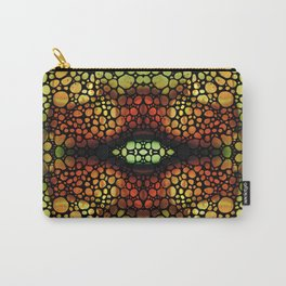 Earth Star - Earth Tone Abstract Mosaic by Sharon Cummings Carry-All Pouch