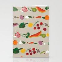 vegetarian Stationery Cards featuring Vegetarian pattern by Darish