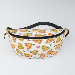 Watercolor Pizza Fast Food Pattern Fanny Pack