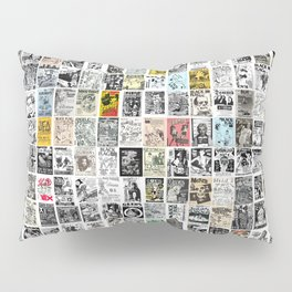 Punk Show Flyers Pillow Sham