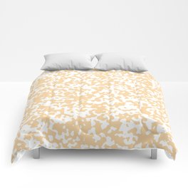 Small Spots - White and Sunset Orange Comforters