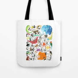 English Alphabet Tote Bag
