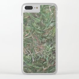 grass lawn texturized for background and texture Clear iPhone Case