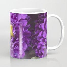 Bright Purple and Yellow Mum Flowers Coffee Mug