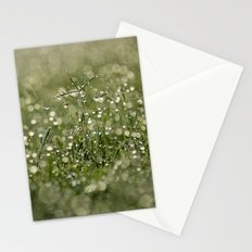 grass bokeh Stationery Cards