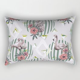 Vintage flamingos Rectangular Pillow