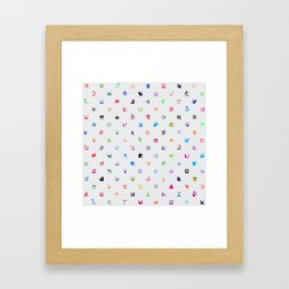 Everything and Everyone Framed Art Print