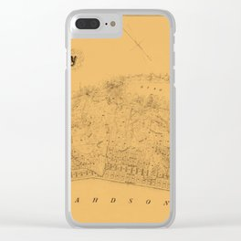 Map of Sausalito 1868 Clear iPhone Case