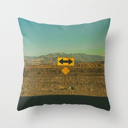 Which Way? / Death Valley, California Throw Pillow