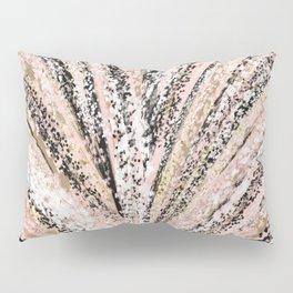 Rose Gold and Glitter Brushstroke Bursts Pillow Sham