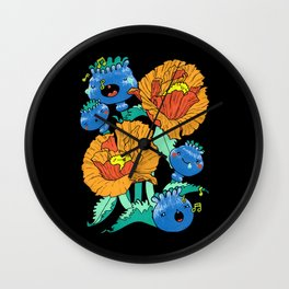 singing poppies & the seedpods Wall Clock