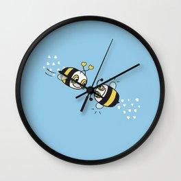 Love bees  Wall Clock