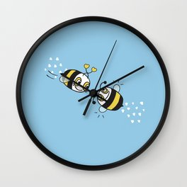 Love bees  Wall Clock