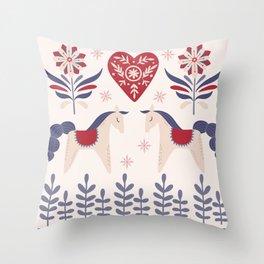 Swedish Christmas 3 Throw Pillow