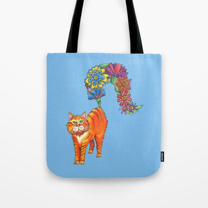 Classy Cat Chloe (Blue) Tote Bag