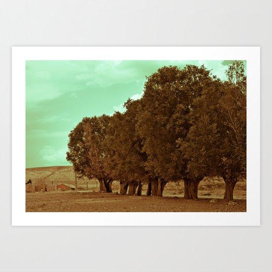 The Tree Line Barrier Art Print