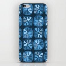 blue boomerangs iPhone Skin