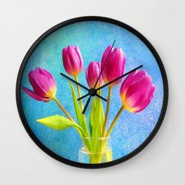 Five Pink Ladys Wall Clock