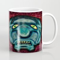 the cure Mugs featuring No Cure For Ugly by Gene S Morgan