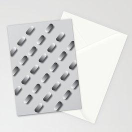 Lozenge Pattern on Grey Stationery Cards
