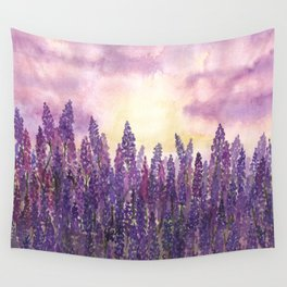 Lavender Field At Dusk Wall Tapestry