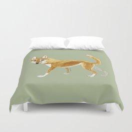 Ginger dingo (Canis lupus dingo) (c)2017 Duvet Cover