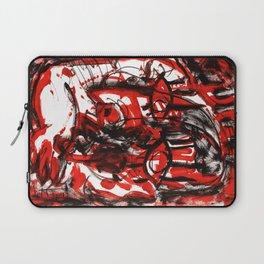 Anger - b&w Laptop Sleeve
