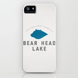 Bear Head Lake iPhone Case