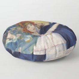 Pierre-Auguste Renoir - Dance at Bougival Floor Pillow