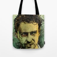 fear Tote Bags featuring Schizo - Edward Norton by Fresh Doodle - JP Valderrama