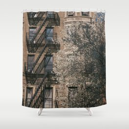 Fire Escape Tree Shower Curtain