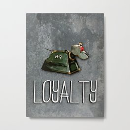 Doctor Who: K9: Loyalty Metal Print
