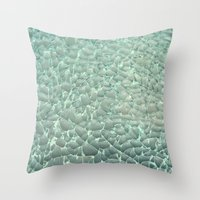 mercedes Throw Pillows featuring Shattered by RichCaspian