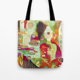 """""""Rooted In Love"""" Original Painting by Flora Bowley Tote Bag"""