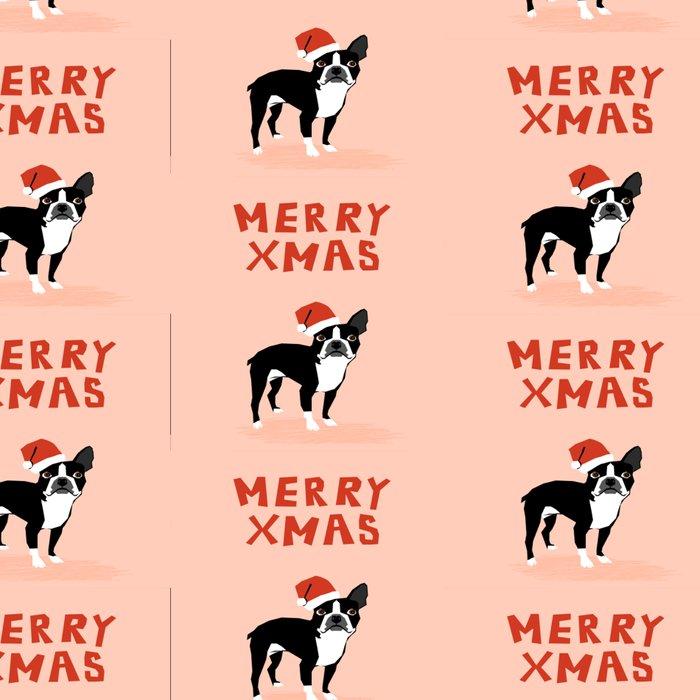 Boston Terrier Xmas - christmas tree holiday pet dog lover gift with boston terrier cute santa hat  Leggings