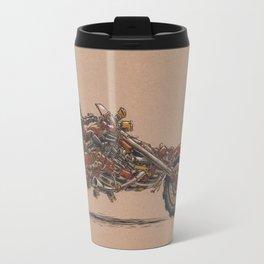 Purrs Like Leather Travel Mug