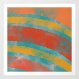 Sunset Paintbox Art Print