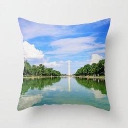 Washington Memorial Throw Pillow