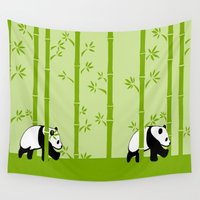 bamboo Wall Tapestries featuring Bamboo by Frosty Shades